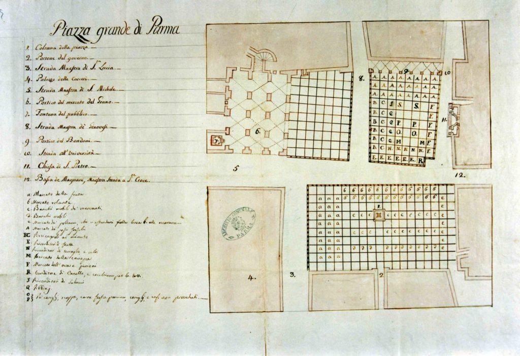 01.03 - Piazza Grande - Planimetria - ASCPR 1760 post
