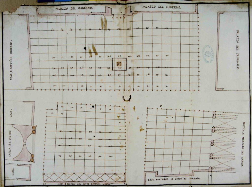 01.04 - Piazza Grande - Planimetria Mercato - CL 177 - 1790