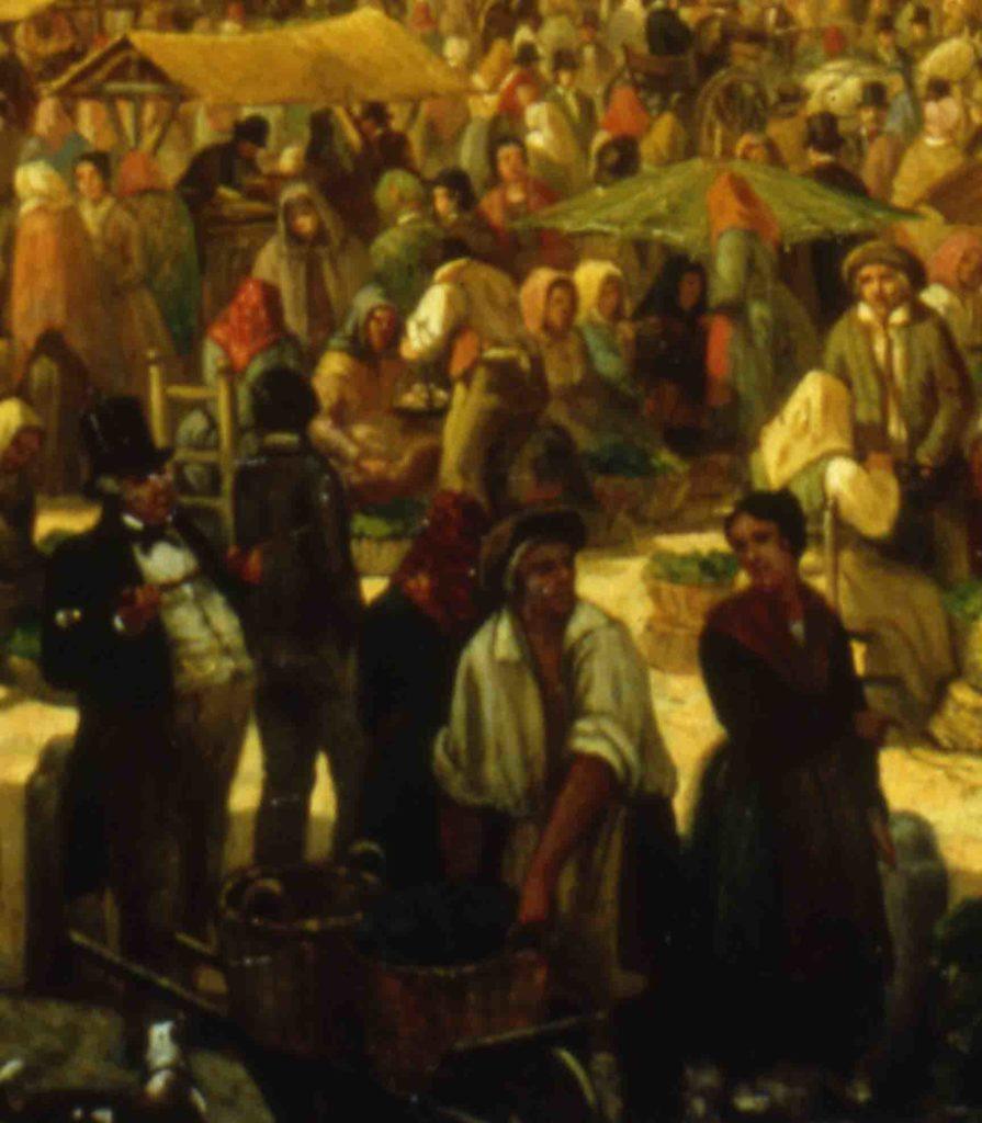 04.03 - GIULIO CARMIGNANI, Venditore ambulante di pesce, 1848 - Parma, Collezione privata