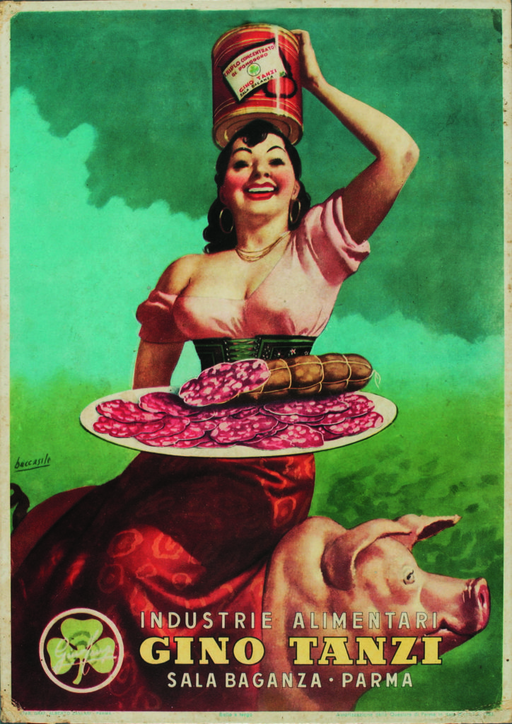 07.11 - G. Boccasile, locandina per la ditta Gino Tanzi di Sala Baganza, 1950ca copia 2