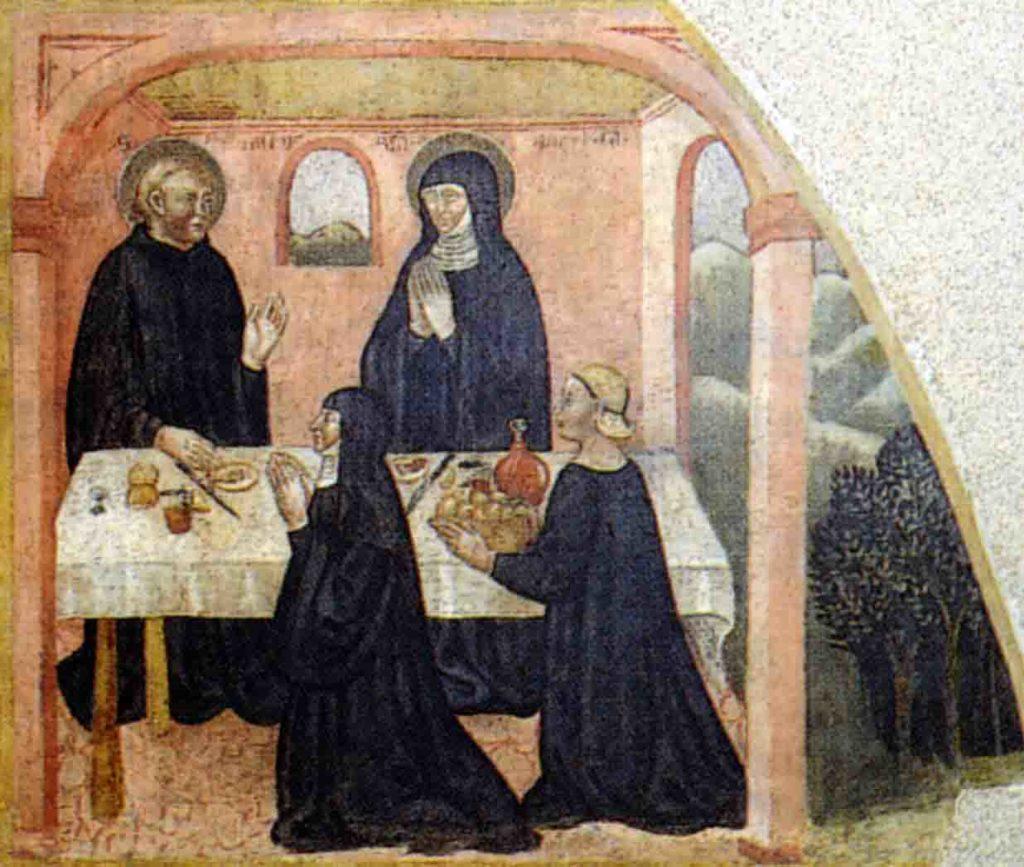 JACOPO LOSCHI, Leggenda dei santi benedetto e Scolastica - Parma, Camera di San Paolo
