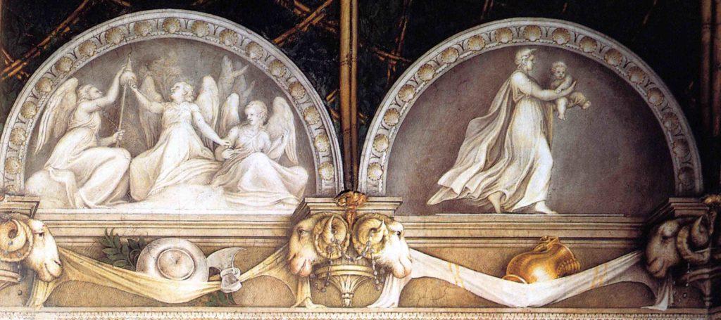ANTONIO ALLEGRI, IL CORREGGIO, Camera di San Paolo, lunette con vasi 2
