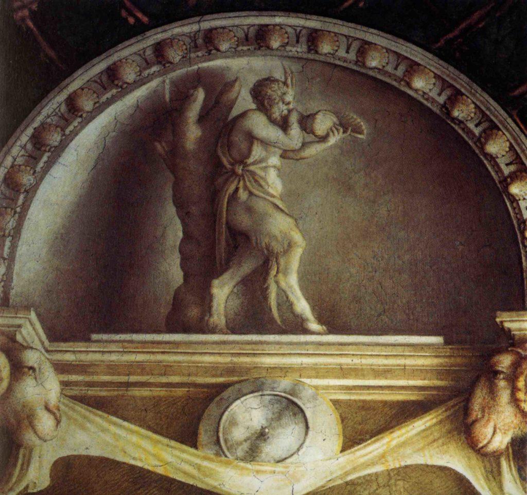 ANTONIO ALLEGRI, IL CORREGGIO, Camera di San Paolo, lunette con vasi 3