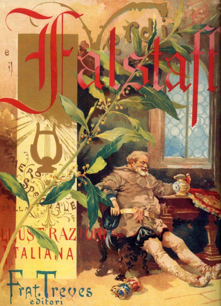 22.08 -  Copertina del numero speciale de %22L'illustrazione italiana%22 per la prima del Falstaff di Giuseppe Verdi, 9 febbraio 1893 - Parma, Casa della Musica