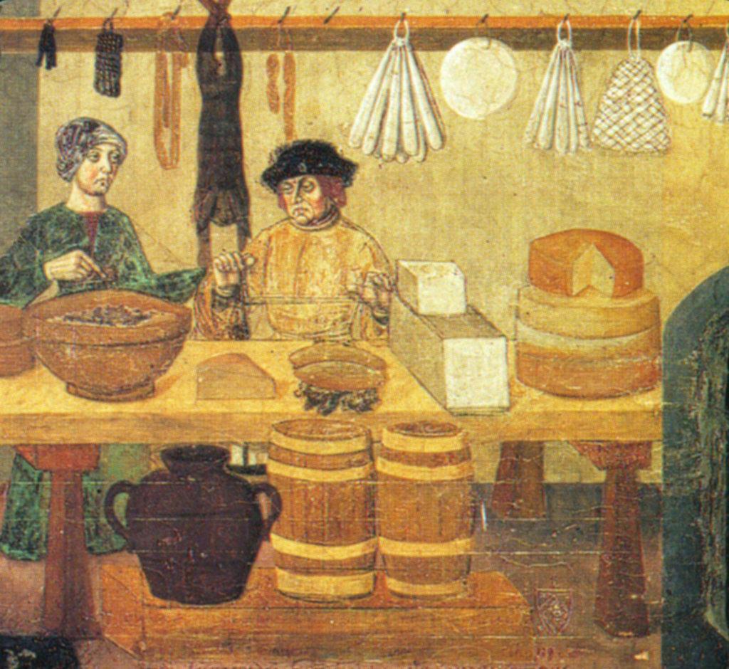 24.01 - Issogne  - Affresco salumeria - formaggi