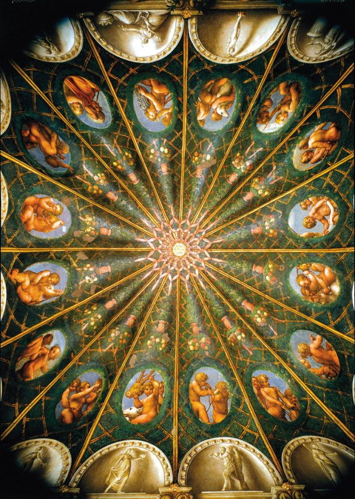 11a - ANTONIO ALLEGRI, IL CORREGGIO, Camera di San Paolo, gli affreschi della volta
